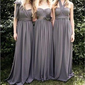 David's bridal convertible black bridesmaid dress